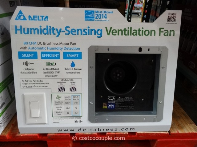 Delta Breez Humidity Sensing Bath Ventilation Fan