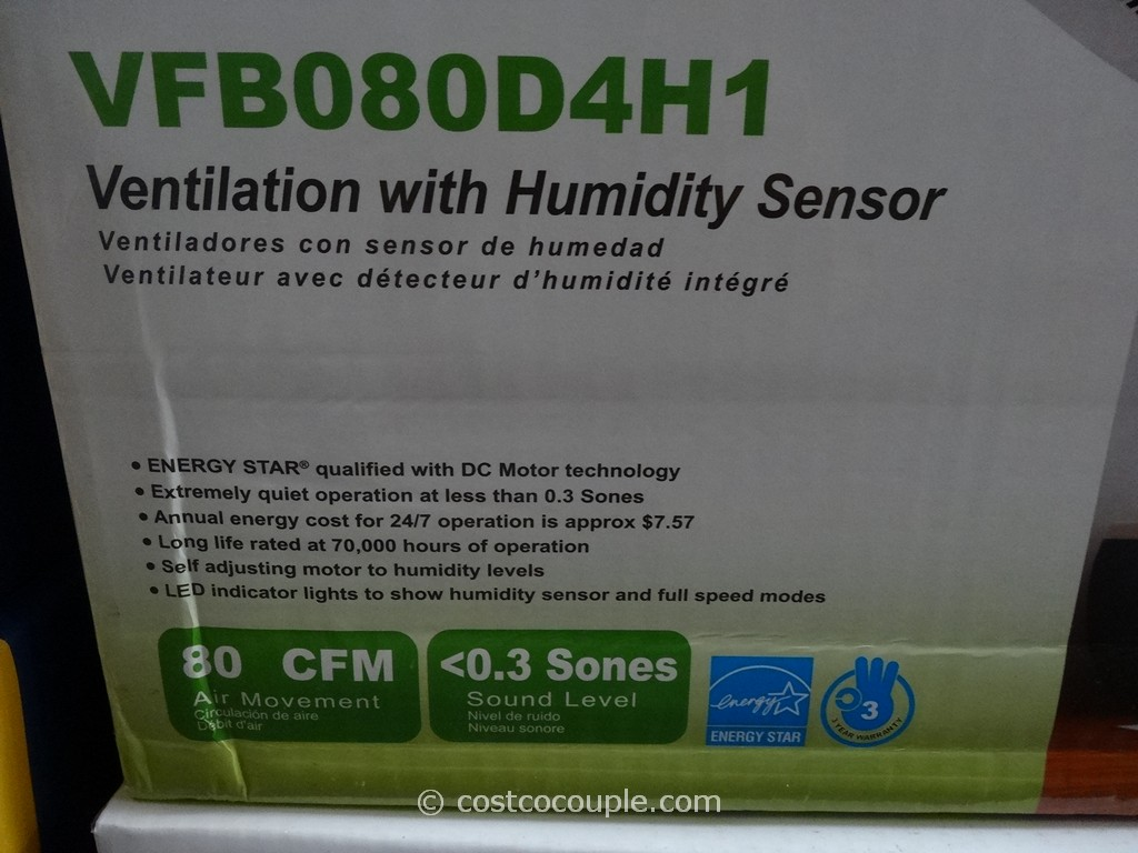 ... Delta Breez Humidity-Sensing Bath Ventilation Fan Costco 3 ...