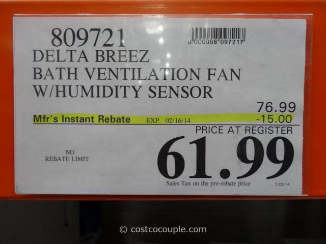 Delta Breez Humidity-Sensing Bath Ventilation Fan Costco 5