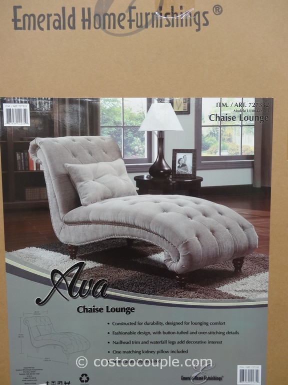 Emerald Ava Fabric Chaise Lounge