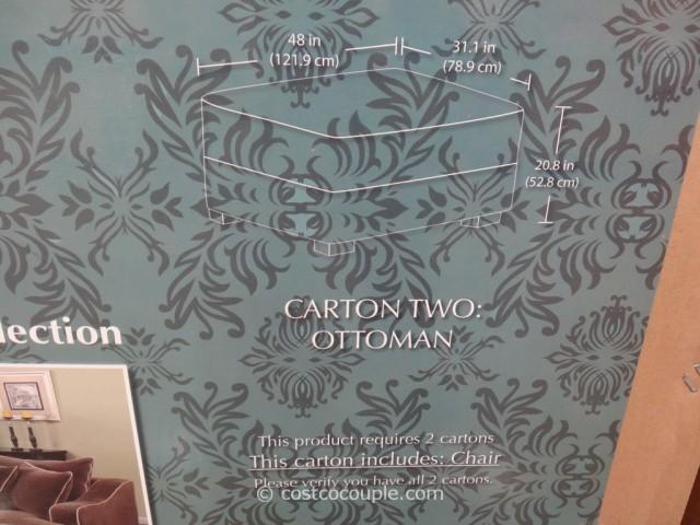 Emerald Gianna Fabric Chair and Ottoman Costco  4