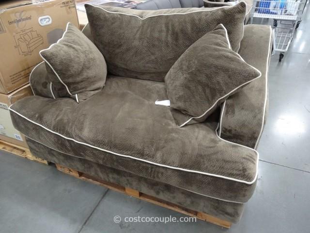 Emerald Gianna Fabric Chair and Ottoman Costco  8