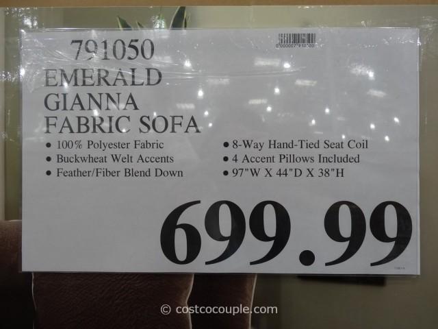 Emerald Gianna Fabric Sofa Costco 1