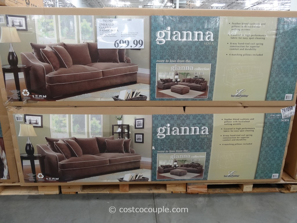 Emerald Gianna Fabric Sofa Costco 2