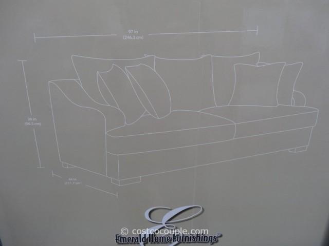 Emerald Gianna Fabric Sofa Costco 3