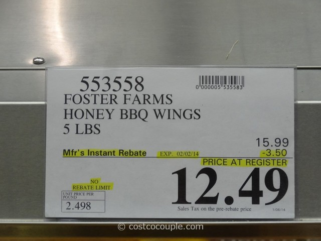 Foster Farms Wings Costco 3