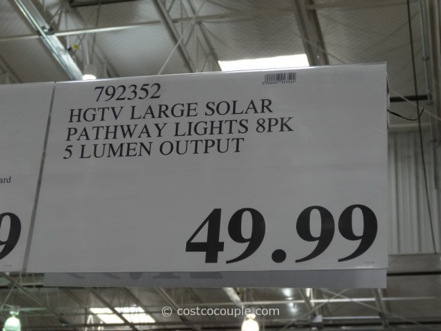 HGTV Large Solar Pathway Lights Costco 1
