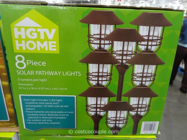 HGTV Large Solar Pathway Lights Costco 4