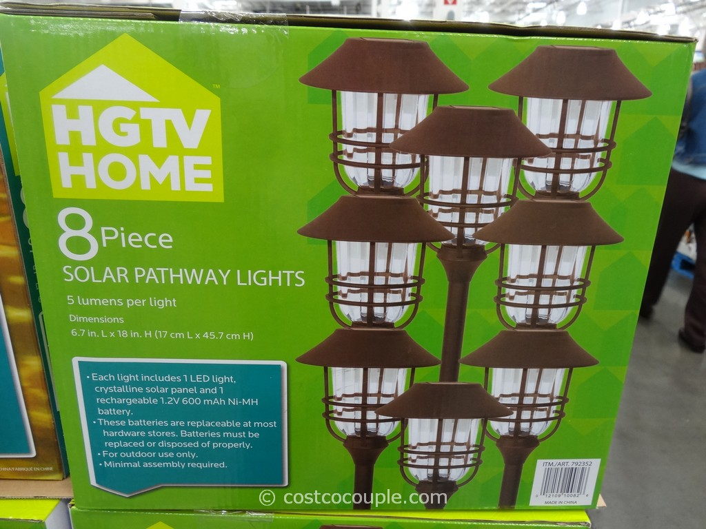Awesome HGTV Large Solar Pathway Lights Costco 4 ...