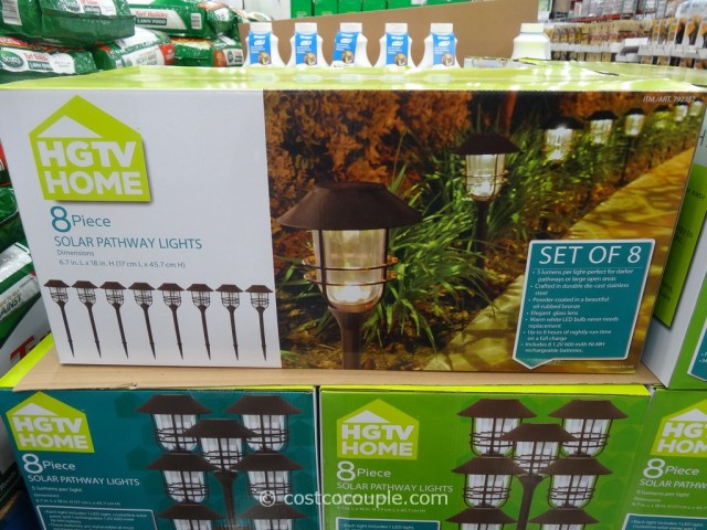 HGTV Large Solar Pathway Lights Costco 5