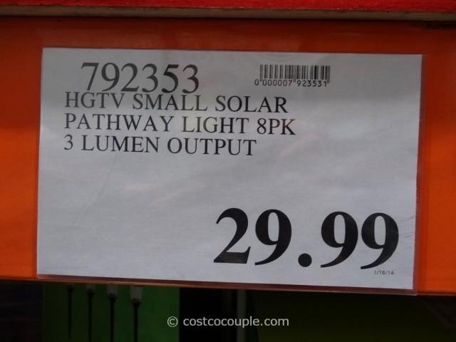 HGTV Small Solar Pathway Light Costco 1