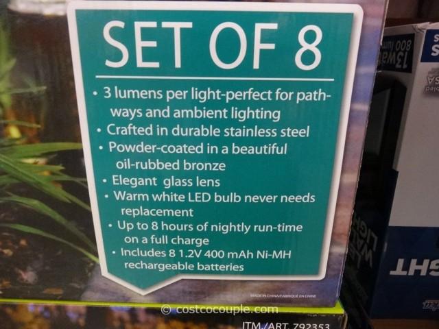 HGTV Small Solar Pathway Light Costco 4
