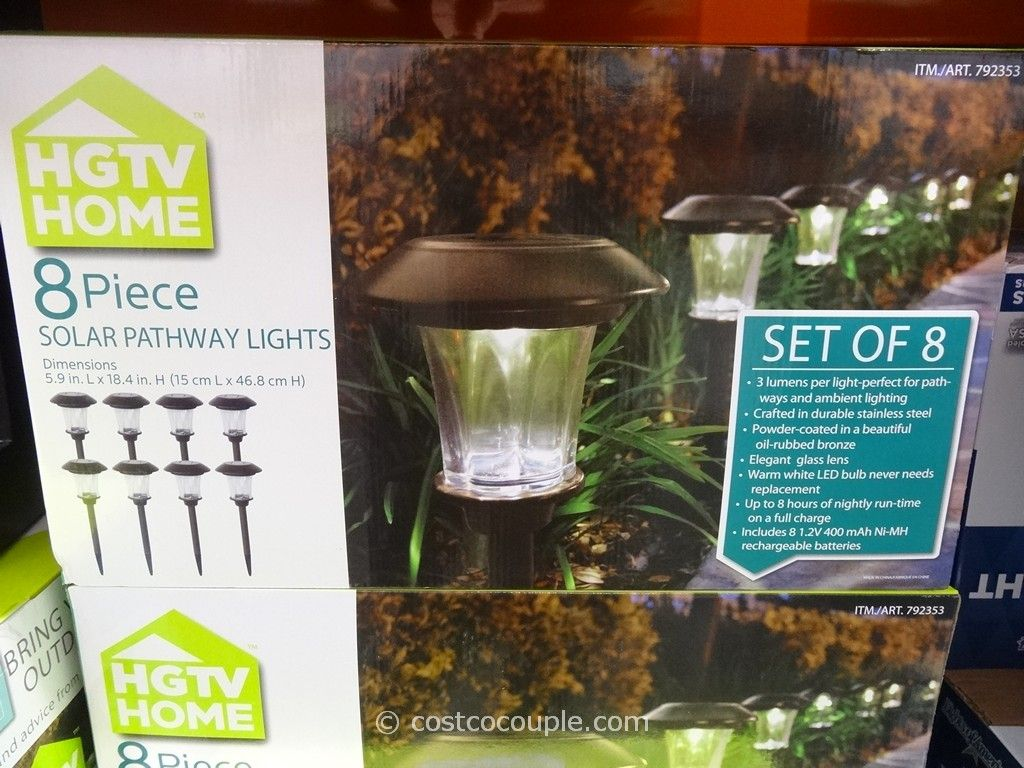 HGTV Small Solar Pathway Light Costco 5