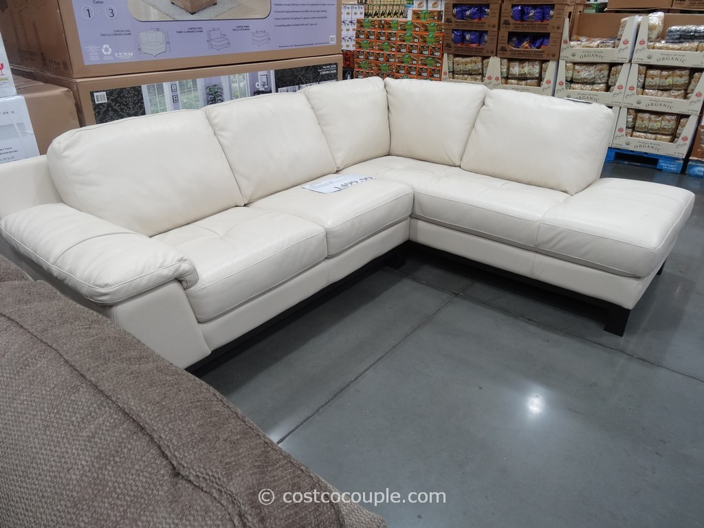 HTL Manhattan Leather Sectional Costco 2