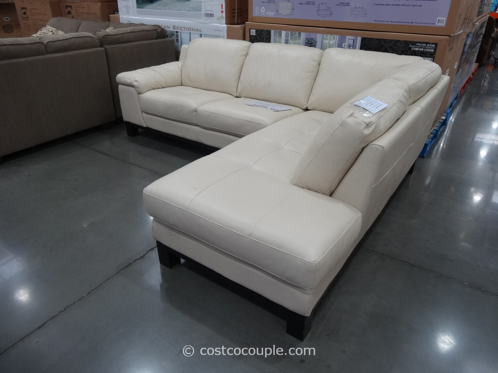 Htl Manhattan Leather Sectional Costco 3