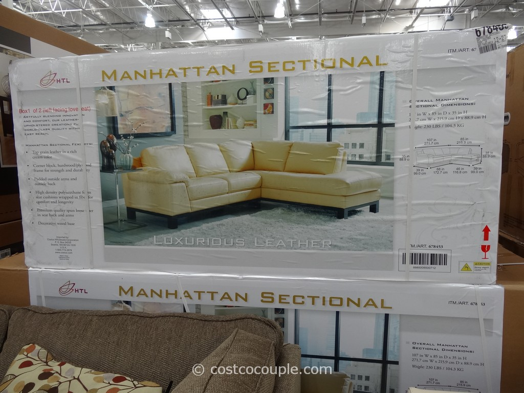 The HTL Manhattan Leather Sectional is priced at $1499.99.