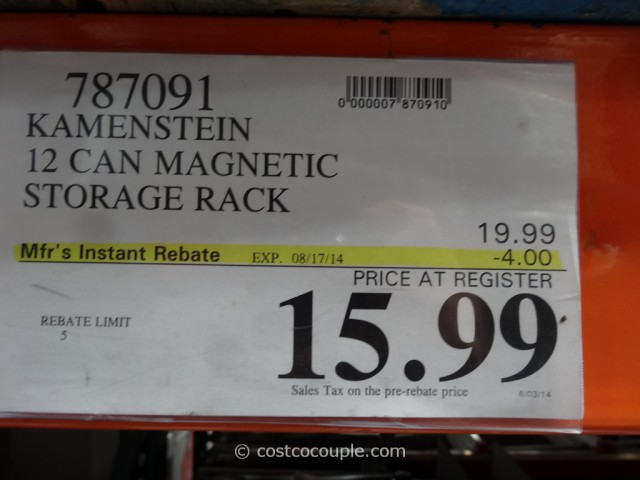 Kamenstein 12 Can Magnetic Storage Rack Costco