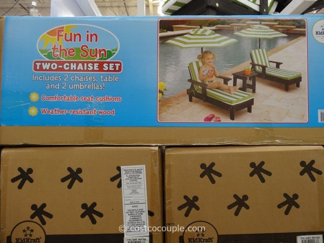 Kidkraft 2-Piece Chaise Lounge Set Costco 2