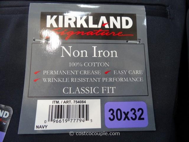 Kirkland Signature Mens Non Iron Pants Costco 1