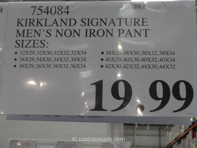 Kirkland Signature Mens Non Iron Pants Costco 3