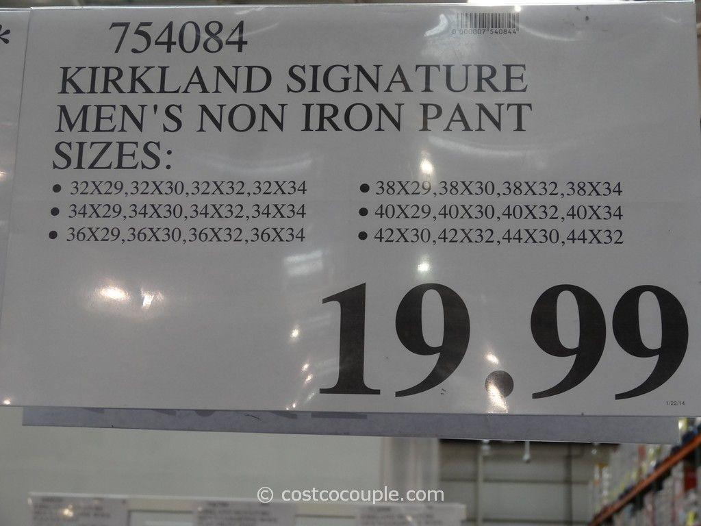 Kirkland Signature Men S Non Iron Pants