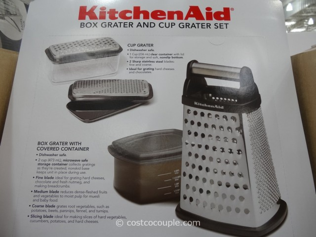 KitchenAid Box Grater and Cup Grater Set Costco 5