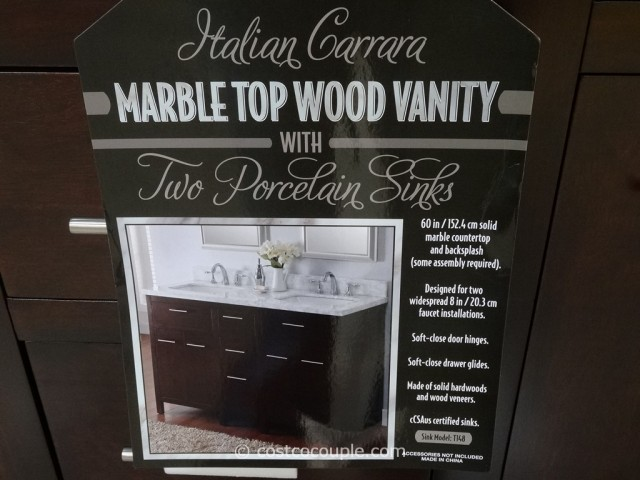 Lanza Products 60-Inch Italian Carrara Marble Top Wood Vanity Costco 3