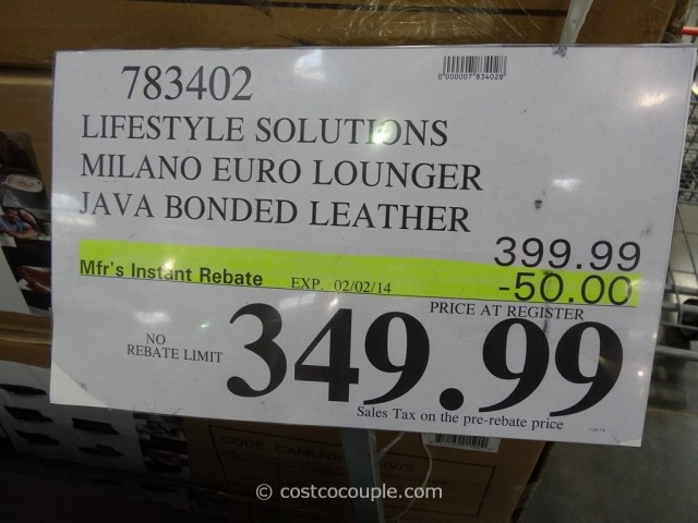 Lifestyle Solutions Milano Euro Lounger Costco