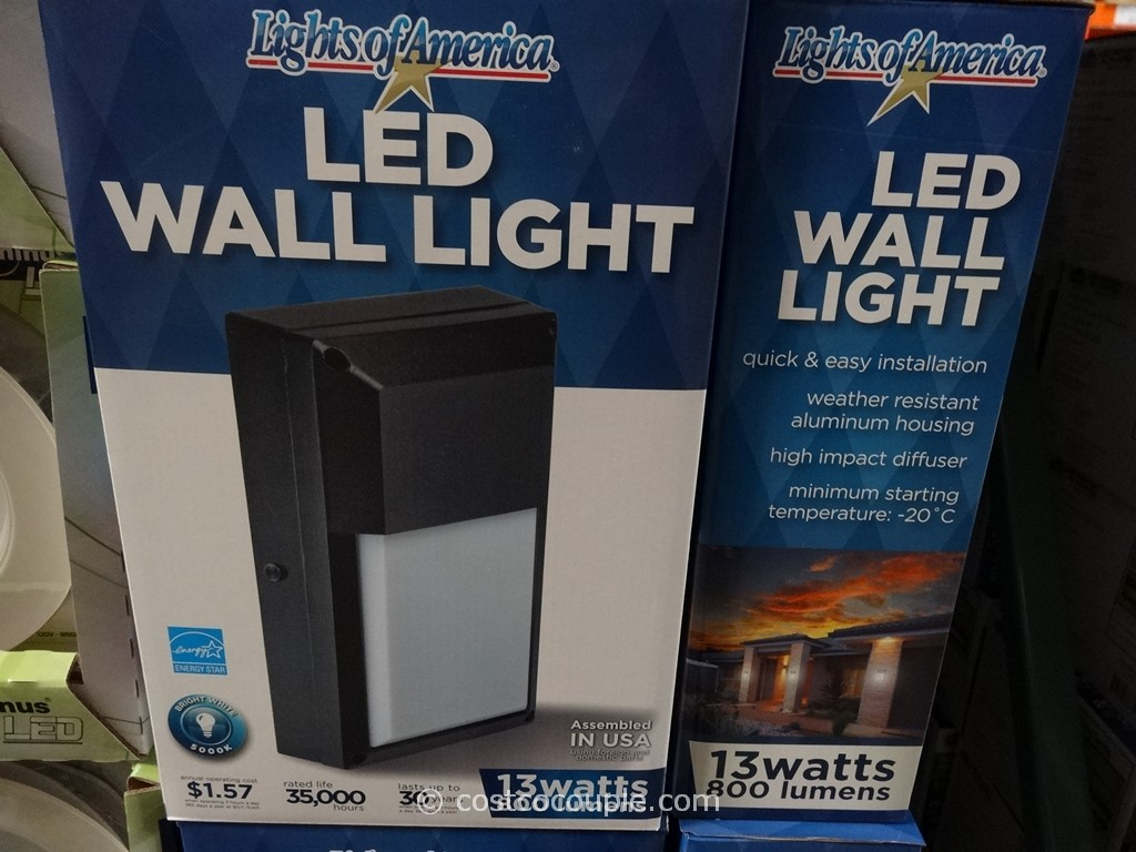 Lights of America LED Outdoor Wall Light Costco 2