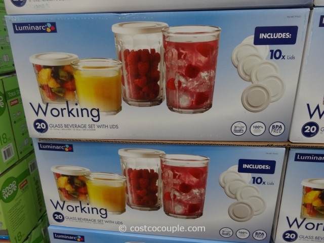 Luminarc Working Glass Drinkware Set Costco  3