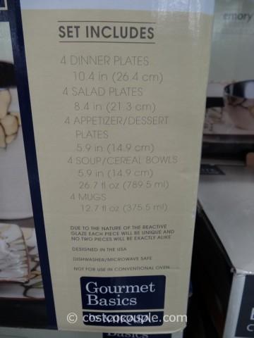 Mikasa Gourmet Basics Emory Dinnerware Set Costco 1