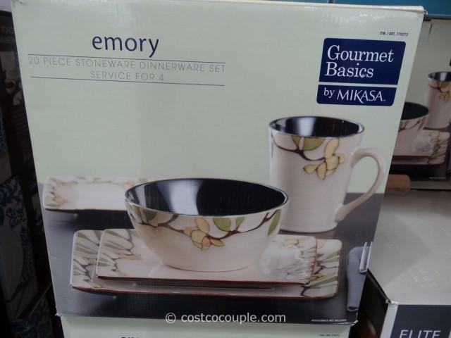 Mikasa Gourmet Basics Emory Dinnerware Set Costco 2