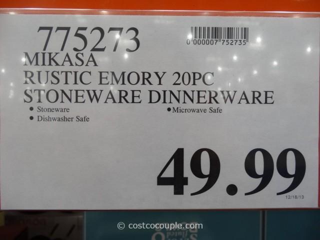 Mikasa Gourmet Basics Emory Dinnerware Set Costco 3