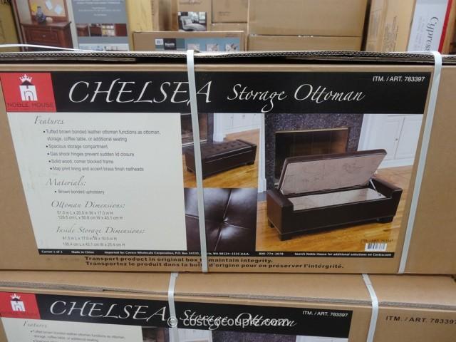 Noble House Chelsea Storage Ottoman