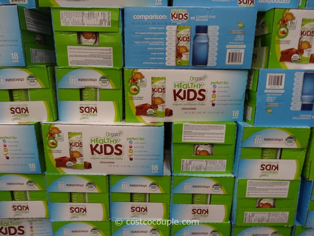 Orgain Healthy Kids Organic Chocolate Nutritional Shake Costco 2