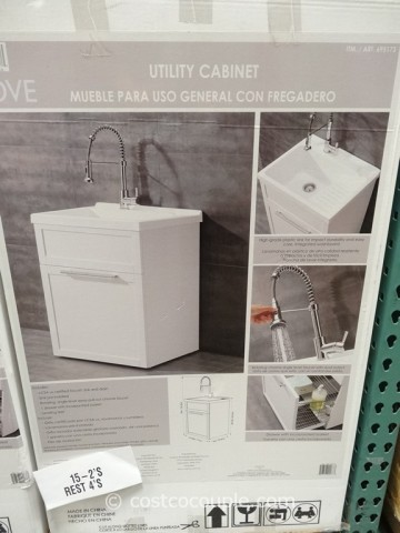 Laundry Sink Costco : Ove Decors 28-Inch White Utility Sink With Faucet Costco 2