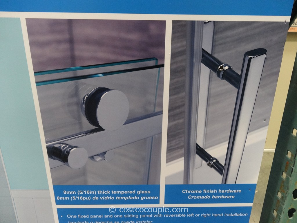 768 #20649D The Ove Decors 60 Inch Premium Rolling Tub Door Is Priced At $289.99. pic Costco Doors 47611024