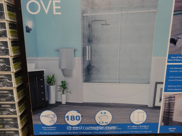 Ove Decors 60-Inch Premium Rolling Tub Door Costco 5