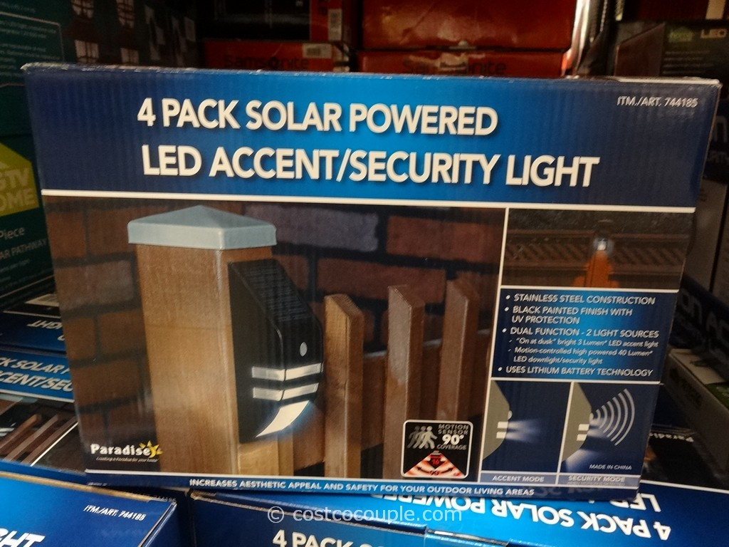 Paradise Motion Activated Solar LED Light Costco 2