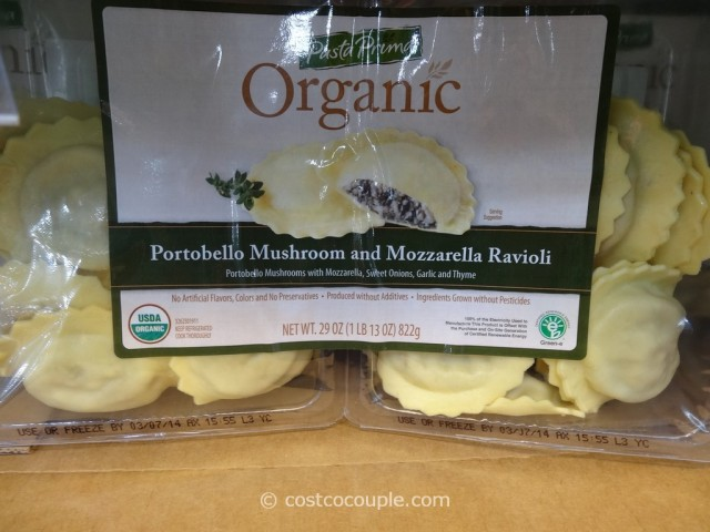Pasta Prima Organic Portabello Mushroom and Mozarella Ravioli Costco 1