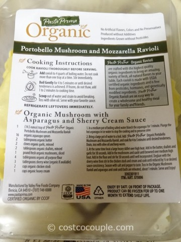 Pasta Prima Organic Portabello Mushroom and Mozarella Ravioli Costco 4