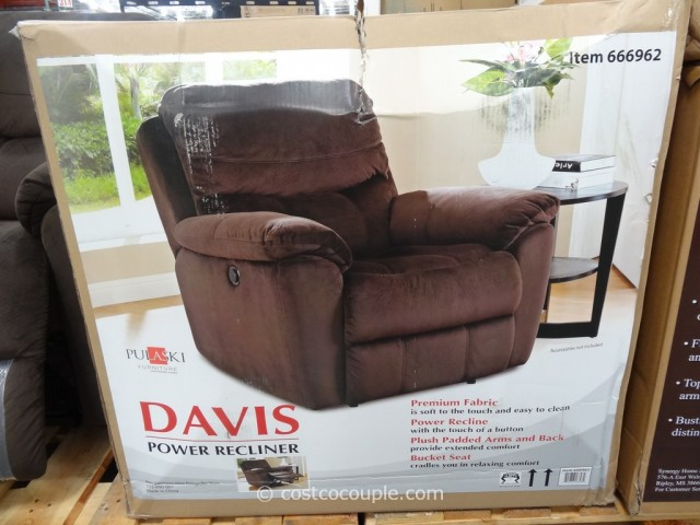 Pulaski Davis Fabric Power Recliner Costco 2