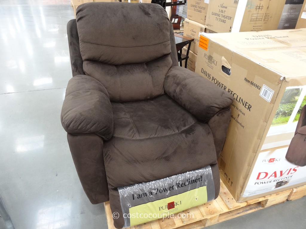 Pulaski Davis Fabric Power Recliner Costco 3