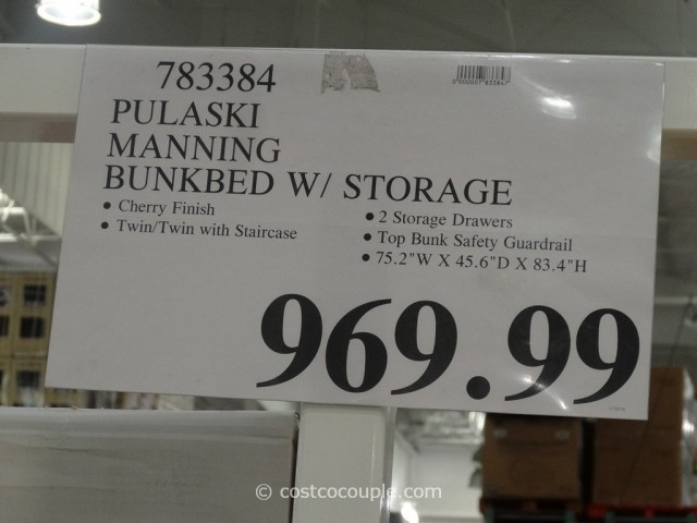 Pulaski Manning Bunkbed With Storage Costco 1