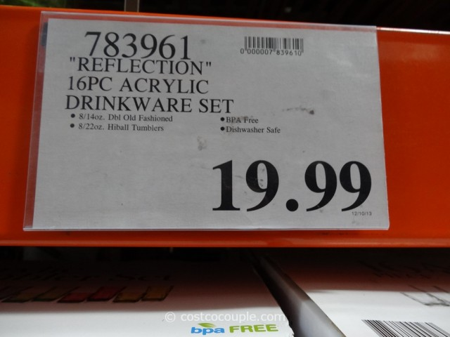 Reflection 16-Piece Acrylic Tumbler Set Costco 1