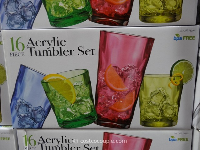 Reflection 16-Piece Acrylic Tumbler Set Costco 3