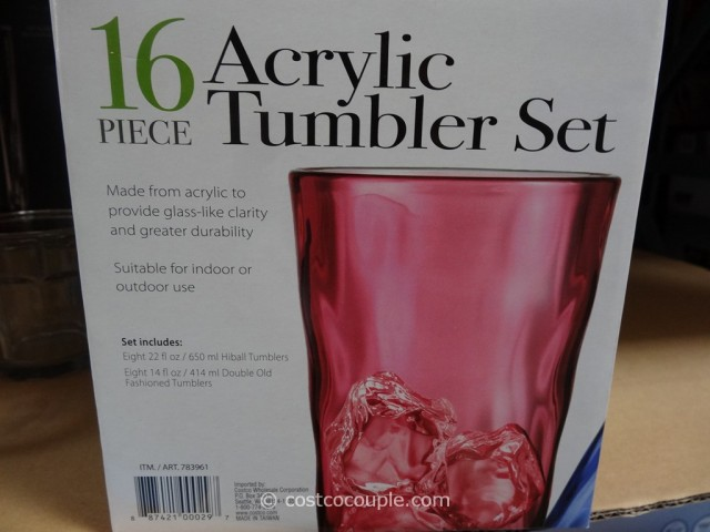 Reflection 16-Piece Acrylic Tumbler Set Costco 5