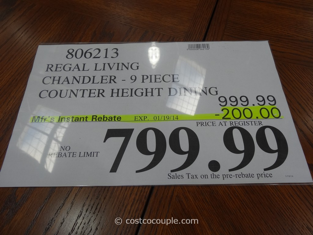 ... Regal Living Chandler 9 Piece Counter Height Dining Set Costco 1