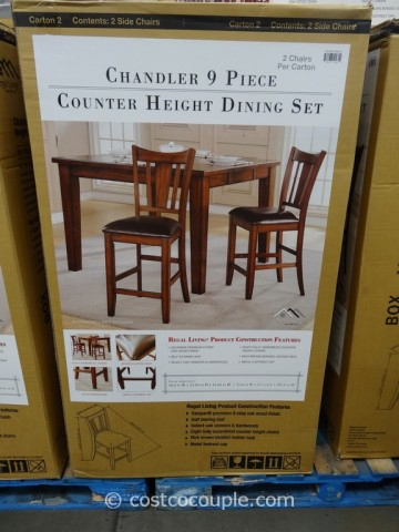Regal Living Chandler 9-Piece Counter Height Dining Set Costco 3