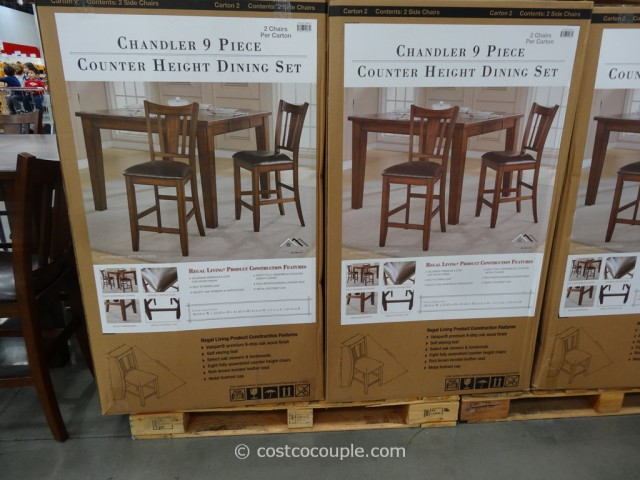 Regal Living Chandler Counter Height Dining Set Costco 4